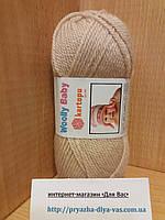 Детская полушерсть (30%-шерсть,20%-полиамид,50%-акрил; 50г/148м) Kartopu Woolly Baby K859(бежевый)