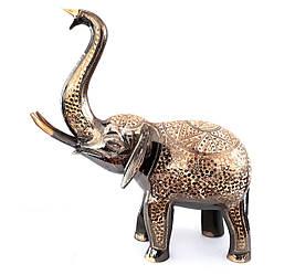 Слон латунный с гравировкой ручной работы 52 см