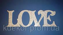 Слово LOVE для декора