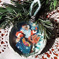 Игрушка на елку Дед мороз Подарок на День Святого Николая Рождество Новый год, фото 1