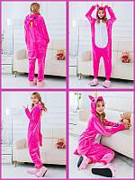 Пижама Кигуруми плюшевая взрослая Единорог Малиновый М (на рост 150-160 см) f71ddfba56dd7