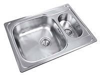 Кухонная мойка из нержавеющей стали UKINOX Гранд GRL 693.503 15GT8K декор