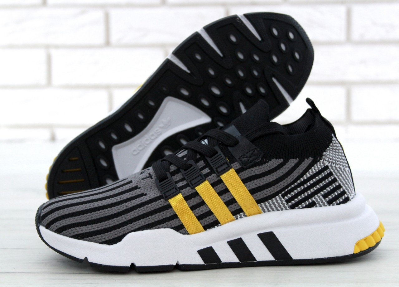 Мужские кроссовки в стиле Adidas EQT Black (Реплика ААА+)