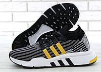 Мужские кроссовки в стиле Adidas EQT Black (Реплика ААА+), фото 1