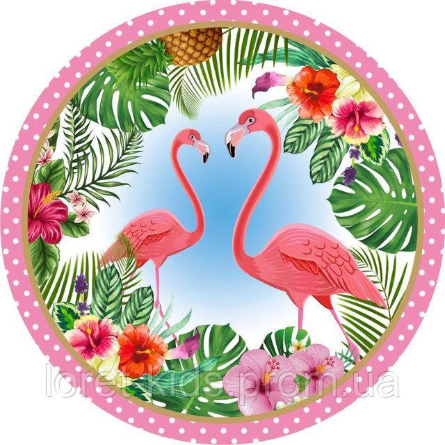 """Тарелки бумажные одноразовые """" Фламинго """" 18 см,10 шт"""