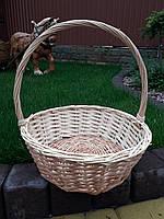 Плетеная подарочная корзина диаметр 28см, фото 1