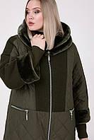 Зимнее женское пальто Riches 663 (куртка) Большие размеры 54-68