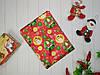 Скатерть новогодняя атласная 150*220 см Шарики-снеговики, новогодние атласные скатерти оптом от производителя