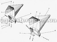 Делитель боковой подсолнечной жатки правый 10МГ.01.00.030-01