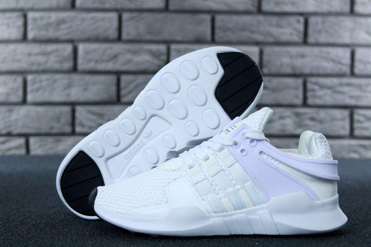 Женские кроссовки в стиле Adidas EQT White (Реплика ААА+)