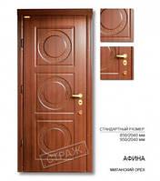 Входная дверь АФИНА миланский орех, двери Страж