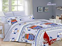 Комплект постельного белья подростковый Совы хлопок 100%