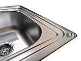 Двойная кухонная мойка Galaţi Fifika 2C Satin 78*48 прямоугольная, фото 9