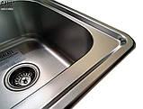 Кухонная мойка Galaţi Fifika 2C Textură 78*48 стальная двойная, фото 10