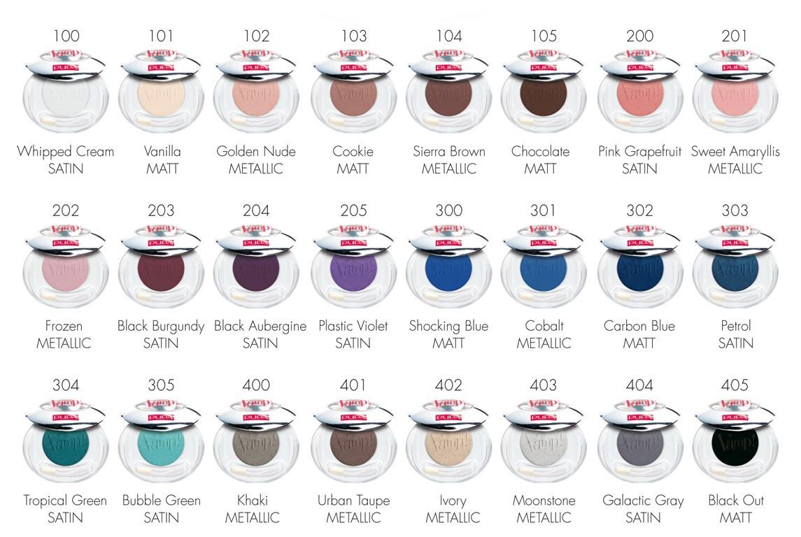 Картинки по запросу Pupa Тени компактные Pupa Vamp! Compact Eyeshadow