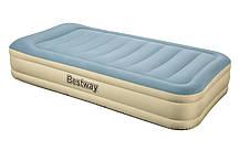 Надувная кровать Bestway 6900 со встроенным насосом Серо-голубой (int69005)