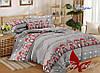 Комплект постельного белья подростковый новогодние совушки хлопок 100%