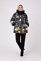 Зимняя женская куртка с принтом Riches 692 Большие размеры 48-68, фото 1
