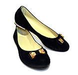 Туфли замшевые женские на низкой подошве, фото 3