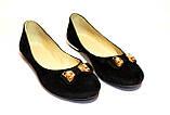 Туфли замшевые женские на низкой подошве, фото 5