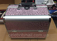 Чемодан мастера металлическая раздвижная (розовый)