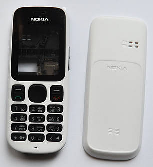 Корпус Nokia 101 белый с клавиатурой class AAA, фото 2
