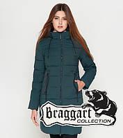 Куртка удлиненная зимняя для девушек Braggart Youth - 25005R бирюза