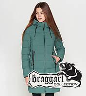 Куртка удлиненная зимняя для девушек Braggart Youth - 25285A1 зеленая