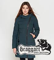 Куртка удлиненная зимняя для девушек Braggart Youth - 25035H бирюза