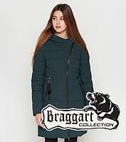 Куртка удлиненная зимняя для девушек Braggart Youth - 25325M темно-зеленая