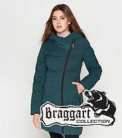 Куртка удлиненная зимняя для девушек Braggart Youth - 25085F бирюза