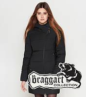 Куртка удлиненная зимняя для девушек Braggart Youth - 25395C черная