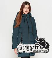 Куртка удлиненная зимняя для девушек Braggart Youth - 25125V бирюза