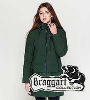 Куртка удлиненная зимняя для девушек Braggart Youth - 25435S хаки