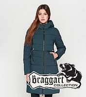 Куртка удлиненная зимняя для девушек Braggart Youth - 25165E бирюза