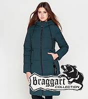 Куртка удлиненная зимняя для девушек Braggart Youth - 25205R бирюза