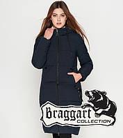 Куртка удлиненная зимняя для девушек Braggart Youth - 25495F темно-синяя
