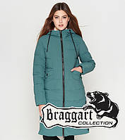Куртка удлиненная зимняя для девушек Braggart Youth - 25595S зеленая