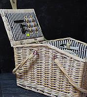 Корзина для пикника большая на 2 особы , фото 1
