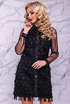 Женское платье-рубашка из бахромы и сетки (3038-3039-3040 svt), фото 3