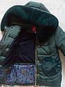 """ХИТ! Детское зимнее пальто с мутоном """"Сердечки"""" Размеры 32- 38, фото 10"""