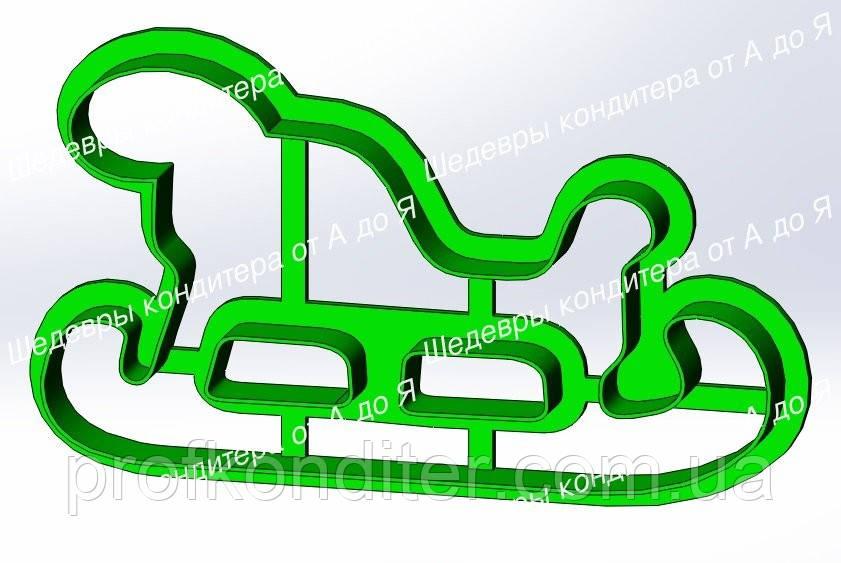 Пластиковая вырубка Сани №1