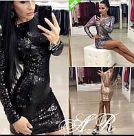 Осень 2018! Роскошное, женское мини-платье с пайетками РАЗНЫЕ ЦВЕТА
