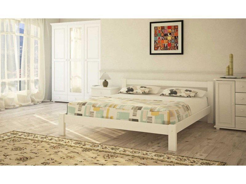 Ліжко півтораспальне в спальню, дитячу з натурального дерева Л-205 Скіф