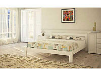 Ліжко півтораспальне в спальню, дитячу з натурального дерева Л-205 Скіф, фото 1