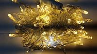 "Гирлянда ""STRING"" (НИТКА)уличная 8м (100 led) тепл/бел цвет с мерцанием (флеш) прозр. тонкий провод IP 44"