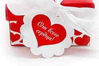 "Бирка декоративная 036 ""От всего сердца!"", фото 1"
