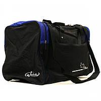 Черная дорожная сумка с синими вставками Wallaby арт. 437-1