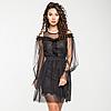 Нарядное платье из фатина и сетки, на трикотажной подкладке с оборкой из гипюра.