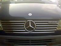 Накладки на решетку радиатора Mercedes Sprinter 1995-2000 (12 шт.нерж.) Carmos